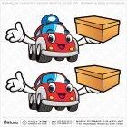자동차 배달 캐릭터
