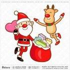 산타와 사슴 선물배송