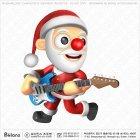산타 캐릭터 전자 기타