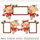 돼지 산타캐릭터 광고판