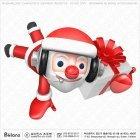 산타 캐릭터 선물과 점프
