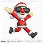 산타클로스 캐릭터 달리기