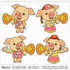 한국 돼지 캐릭터 확성기