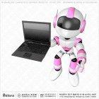 핑크 로보트 캐릭터 노트북