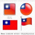 대만 국기 아이콘 4세트