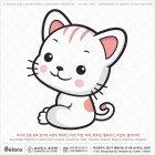 아시아 고양이띠 캐릭터 02