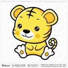 아시아 호랑이띠 캐릭터 01