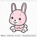 아시아 토끼띠 캐릭터 01