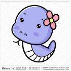 아시아 뱀띠 캐릭터 01