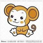 아시아 원숭이띠 캐릭터 01