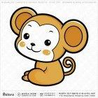 아시아 원숭이띠 캐릭터 02