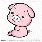 아시아 돼지띠 캐릭터 02