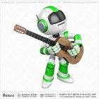 로봇 캐릭터 통기타 연주