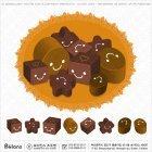 PSD 초콜릿 아이콘 9세트