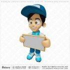 3D 배송기사 캐릭터 광고판