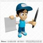 3D 택배 캐릭터 서류 볼펜