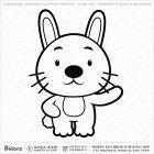 칼라링 토끼띠 캐릭터 06