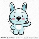 아시아 토끼띠 캐릭터 06