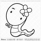 칼라링 뱀띠 캐릭터 06