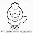 칼라링 닭띠 캐릭터 06