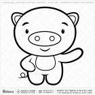 칼라링 돼지띠 캐릭터 06