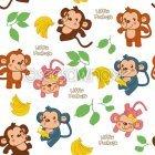 귀여운 꼬마몽키 패턴