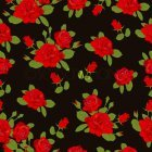 붉은 장미꽃 패턴