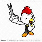 치킨 캐릭터 가위들다