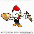 닭캐릭터 젓가락 그릇
