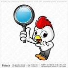 치킨 캐릭터 돋보기