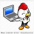 닭 캐릭터 노트북 홍보