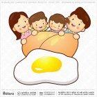 큰 계란과 가족 캐릭터