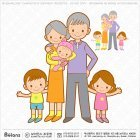 조부모와 손주 손녀 캐릭터
