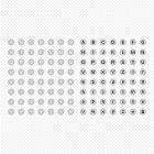 m01 원형 도트 알파벳 PNG