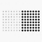 m02 원형 도트 알파벳 GIF